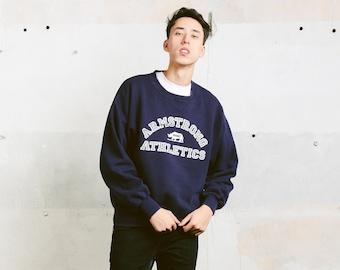Blue RUSSELL ATHLETIC Sweatshirt . Mens Long Sleeve Top Unisex 90s Sweater Athleisure 90s Sweatshirt Men Sportswear . size Large L