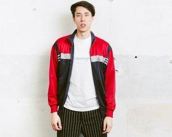 Adidas Track Jacket . 90s Vintage Adidas Red Black Jacket Zip Up Sports Jacket Unisex Tracksuit Top Streetwear Rave Jacket . size Small S
