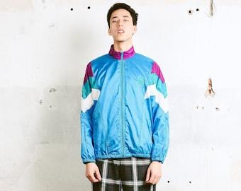 90s Adidas Shell Jacket . Vintage Mens Track Jacket Zip Up Jacket 1990s Sports Jacket Athleisure Jacket Sportswear . size Medium