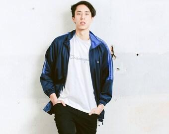 Blue Track Jacket . Vintage 90s Jacket Zip Up Sports Jacket Unisex Tracksuit Top Streetwear 90s Clothing . size Extra Large XL