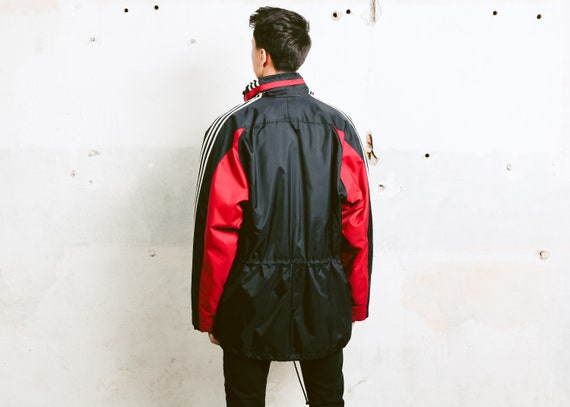 Vintage Adidas Parka Jacket . 90s Adidas Jacket Men's Winter Jacket Snowboarding Wear Winter Sportswear Outerwear . size Large L