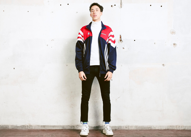 ec8870a9397c Bold Adidas Track Jacket . 80s Vintage Adidas Jacket Men s Unisex ...
