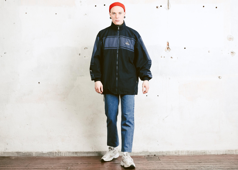 6de3bac0cb4f Adidas 90s Sports Jacket . Vintage Adidas Grey Tracksuit Top Zip Up ...