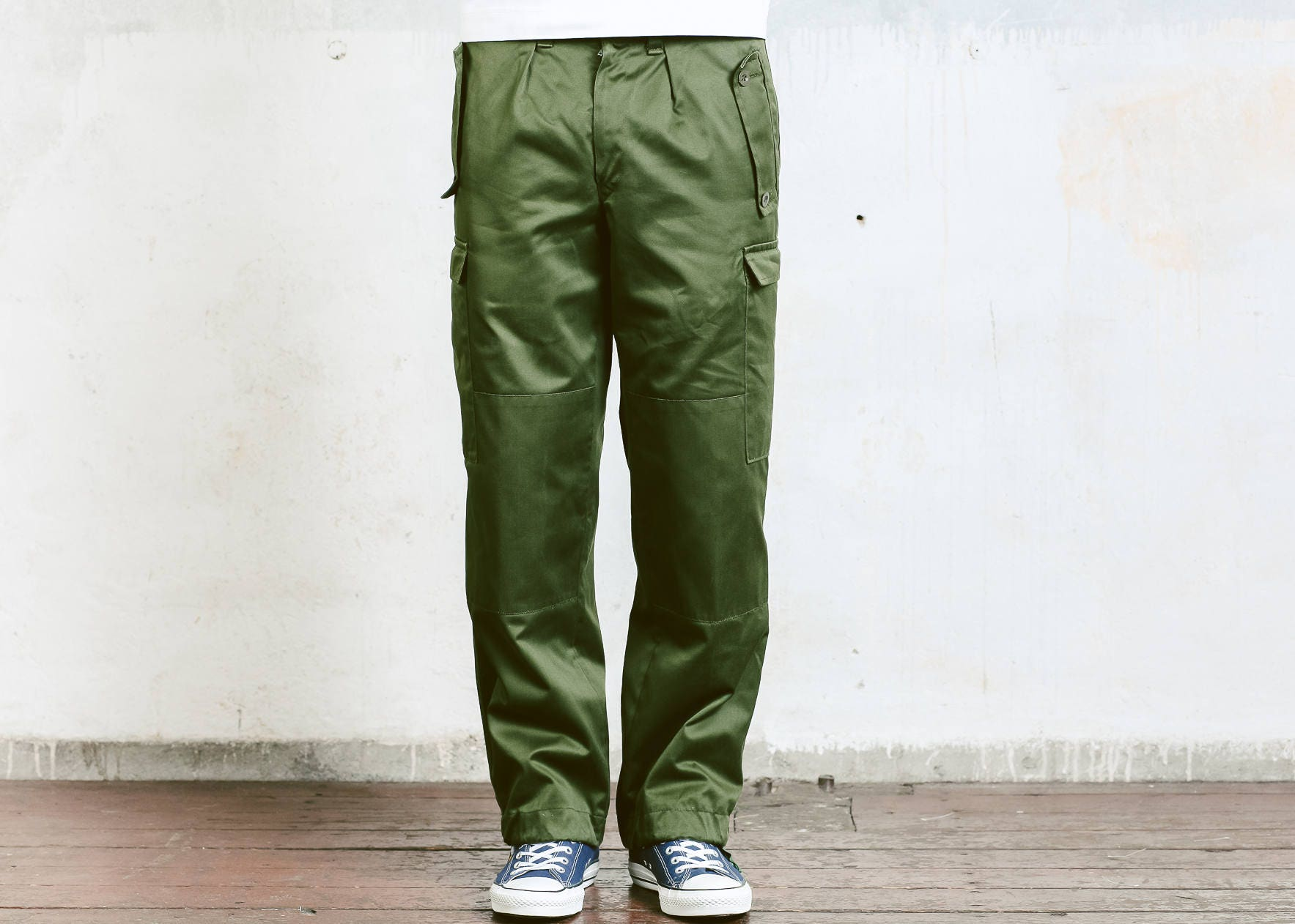 Mens Utility Pants Vintage Military Style Work Trousers Khaki Pants
