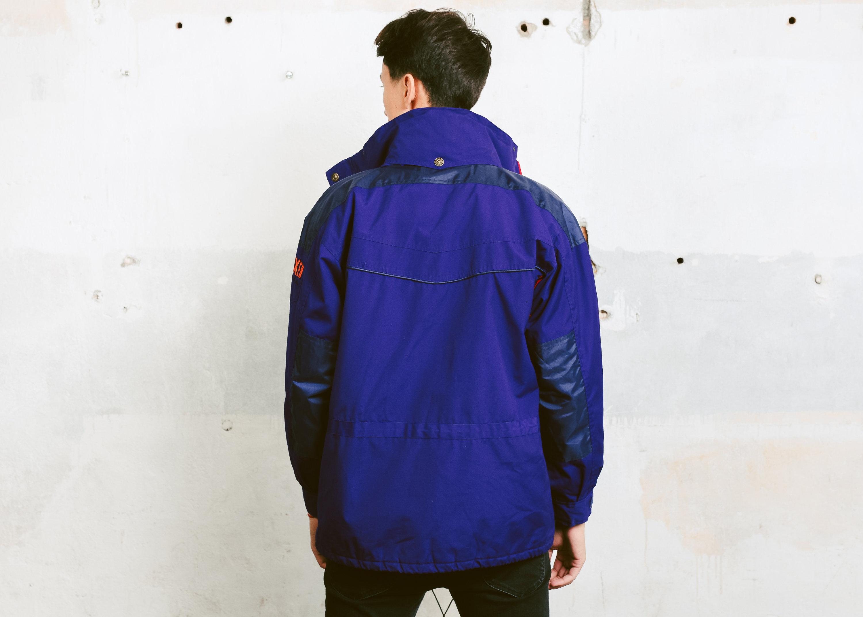 437268509b Men s 90s Style Ski Jacket . Men Parka Jacket Winter Jacket Skiwear  Snowboarding Winter Coat Windbreaker Blue Jacket . size Small