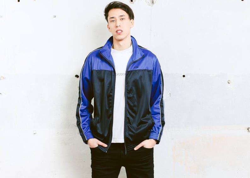d1081811 Vintage Sports Jacket . Mens 90s Jacket Zip Up Track Jacket   Etsy