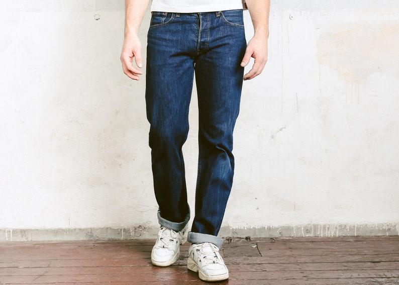 b781f10cb44 Dark Wash Levis 501 Jeans . Vintage Levi Strauss 90s Jeans