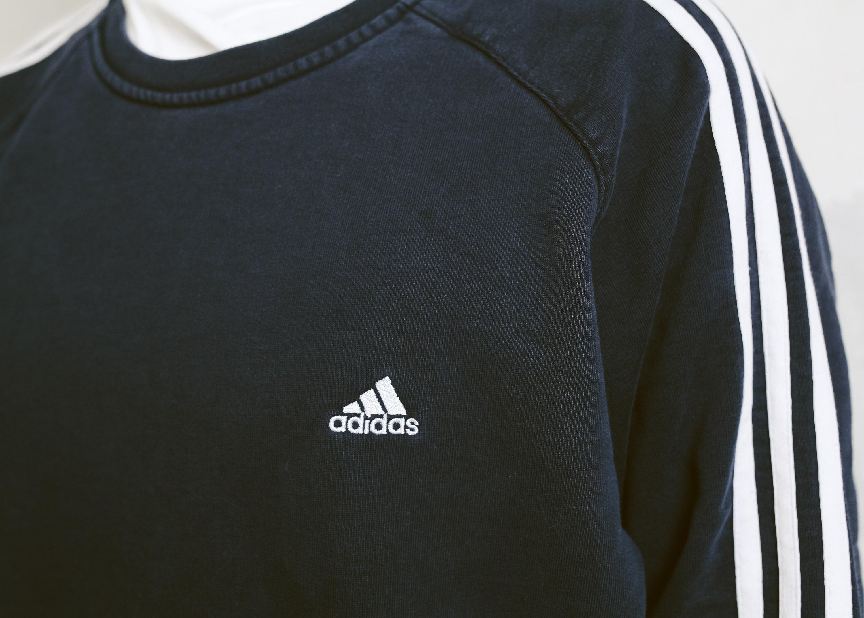 029dd730adfea 90s Navy Blue Adidas Sweatshirt . Vintage Adidas 3 Stripe Sweatshirt ...