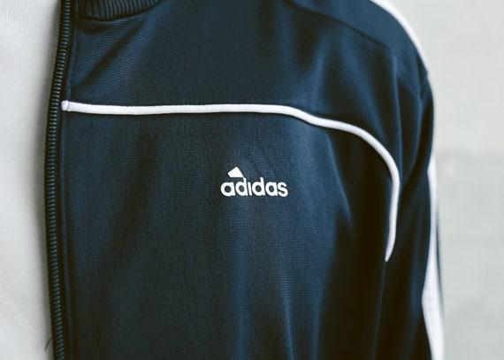 Mens Adidas Trainingsjacke. 90er Jahre Vintage Adidas Jacke Zip bis Sport Jacke Unisex Trainingsanzug oben Streetwear Rave Jacke. Größe Medium M