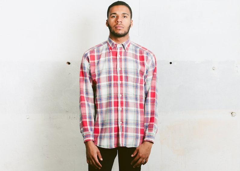 Mens Lumberjack Shirt Vintage 80s Thick Shirt Flannel Etsy