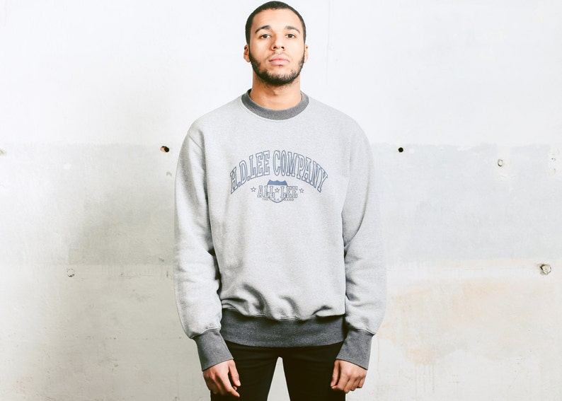 c5054af897e Vintage 90s Lee Sweatshirt . Men Grey Sweatshirt Unisex Baggy | Etsy