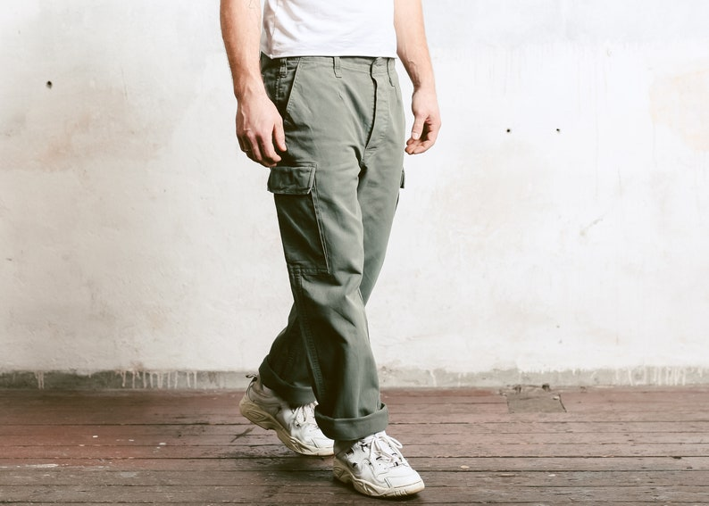 8b1b72d89 Vintage 90s Military Pants . Men Cargo Pants Work Trousers