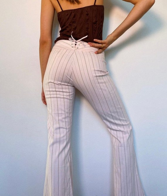 2000s baby pink striped pants