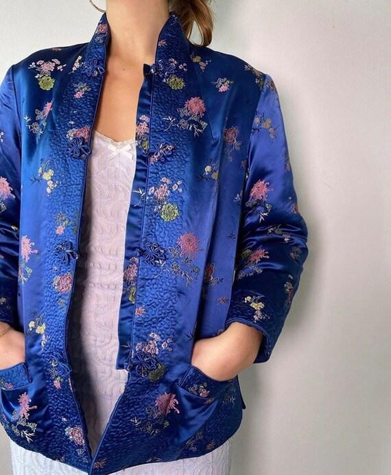 Blue brocade jacket