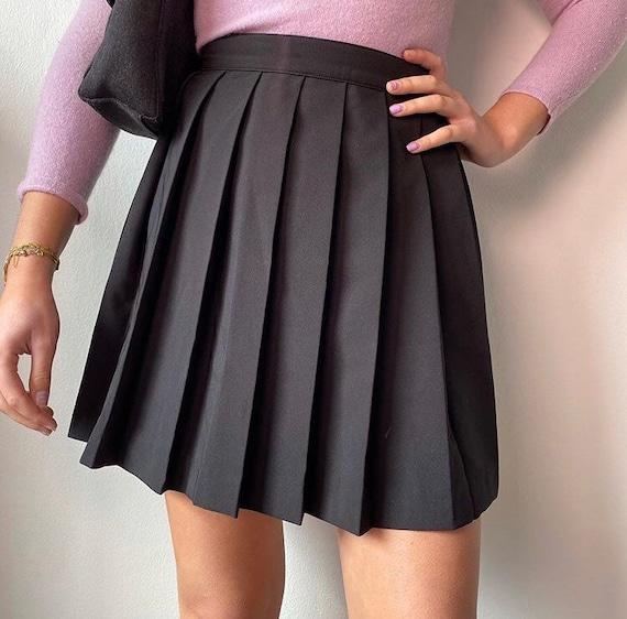 Black tennis skirt