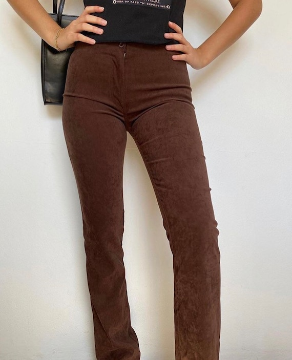Chocolate brown suede like pants!