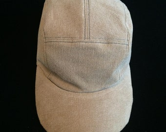 Tan Camel Denim Five Panel Hat ebe91540549