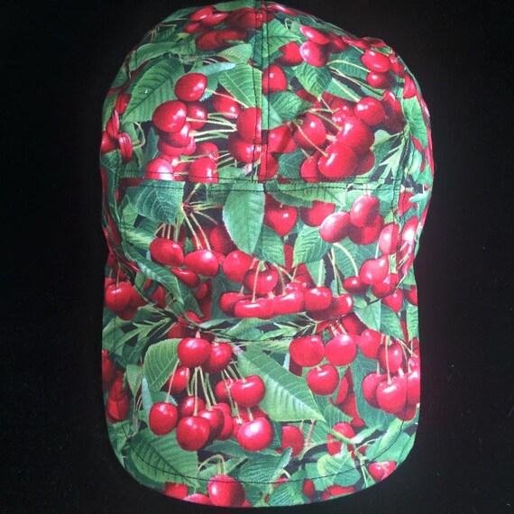 7db9cbeaa0f Cherry Five Panel Hat Cap Baseball Cap Baseball Hat