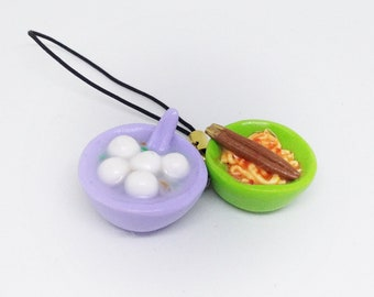 Fishball Noodles Keychain