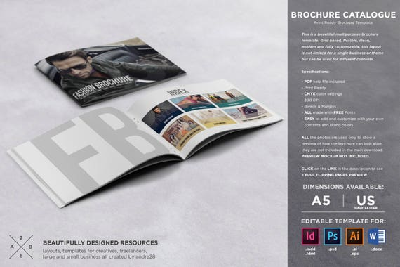brochure catalogue template etsy