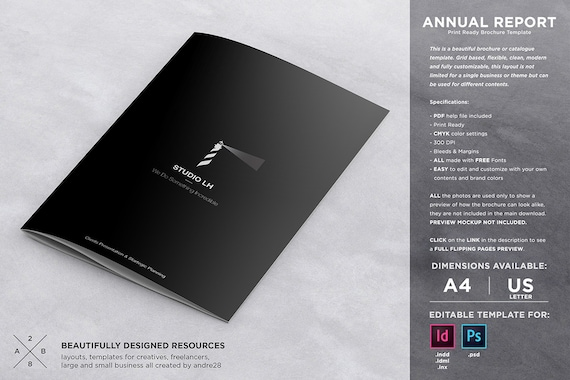 Annual report brochure template etsy fbccfo Gallery