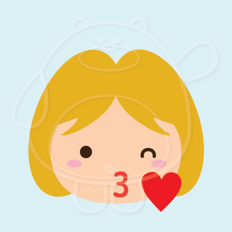 40 Blonde Girl Emojis Digital Clipart PNG Format Personal and Commercial Use