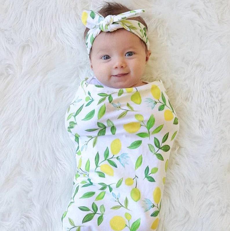 new styles 4c36c bcd58 Swaddle sack. Swaddle blanket. Baby swaddle sack. Sleep Sack. Headband.  Hat. Cocoon swaddle, Cocoon sack. Lemon blanket.