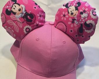 Minnie Stylish Ears Hat, Hot Pink Minnie Mouse Ears Hat | Minnie Ears | Disney Ears | Mickey Ears | Disney baseball cap | Disney Ears Hat