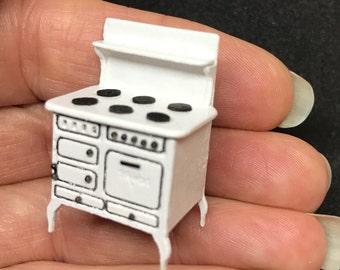 "1/4"" or 1/48 Scale Miniature Maple Vintage Stove Kit"