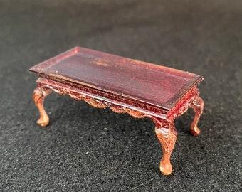 "1/2"" Scale Miniature Bespaq Mahogany Coffee Table"