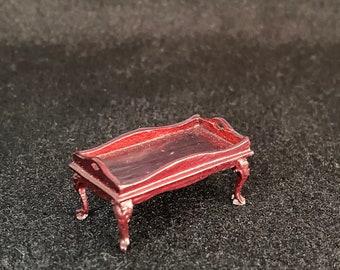 """1/2"""" Scale Miniature Bespaq Mahogany Bed Tray"""