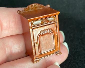 "1/2"" Scale Miniature Bespaq Belmont Nightstand New Walnut"