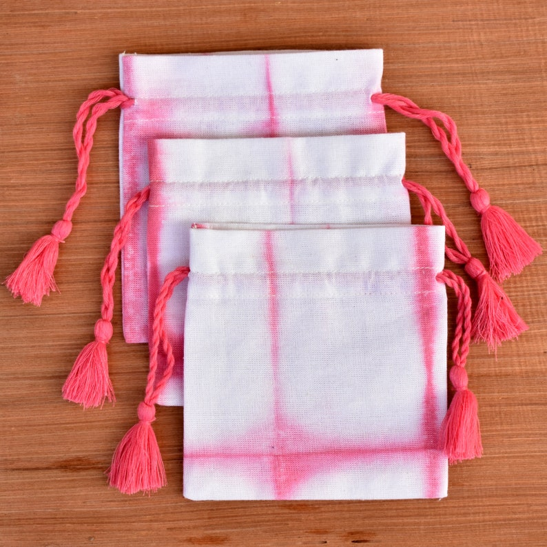 Wedding Favor Bags For Candy Jewelry Packaging Bag Coin Purse 100 Tie Dye Drawstring Pouch Small Cotton Bag