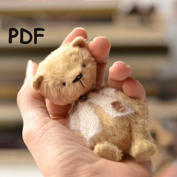 Muster-Teddybär Teddybär 10 cm Nähen Tutorial Muster | Etsy