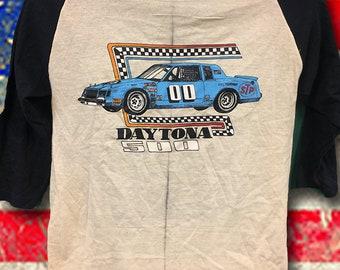 Daytona 500 Black   Tan raglan USA tee 1732920ca763