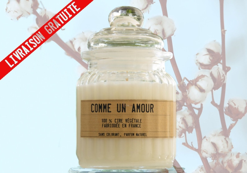 Cotton Flower candle in candy like Yankee Candle but 100% image 0