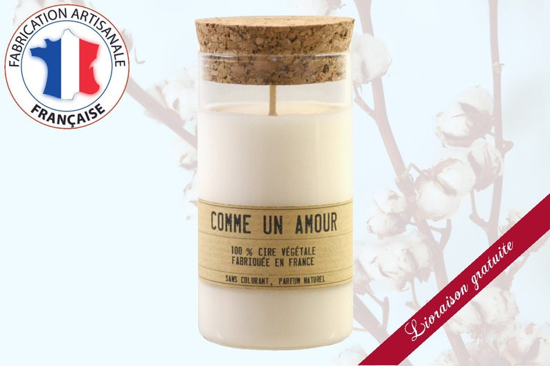 Organically scented cotton flower scented candle  image 0