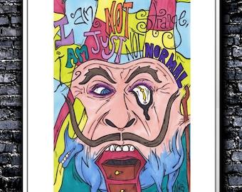 I Am Not Strange - A4 Signed Art Print (Inspired by Salvador Dali)