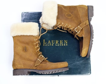 2bedbb6b88be Ralph Lauren genuine shearling boots women s size 11