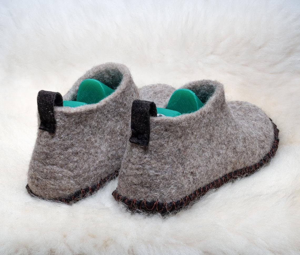 Boiled Wool Eco Shoes Felt Rustic Slippers Handmade Women - Big Sale NWDac