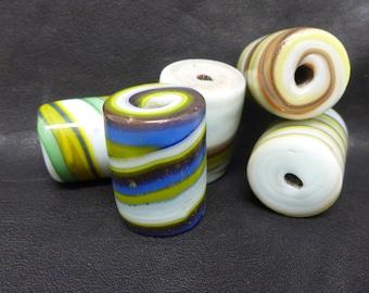 Glass Beads, Striped glass beads