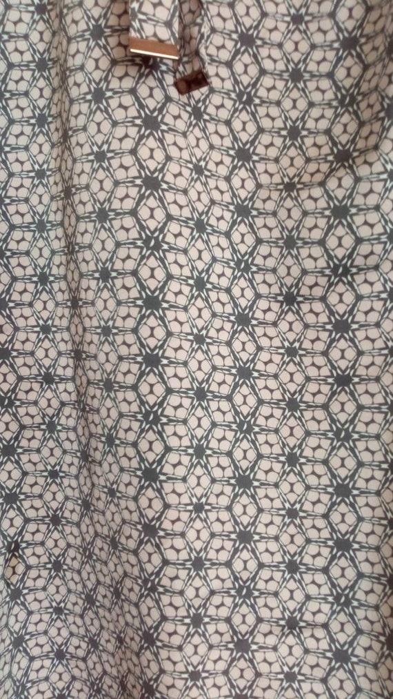 Vintage pink, grey top, Bow blouse, Silk like sec… - image 9