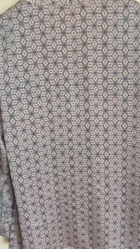 Vintage pink, grey top, Bow blouse, Silk like sec… - image 5