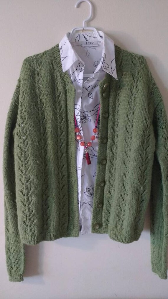 Cardigan,  chunky knit cardigan, hand-knitted card