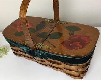 1967 Rose Basket Handbag
