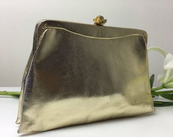 50's-70's Gold Evening Bag