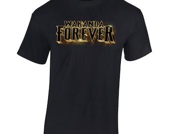 """Black Panther """"Wakanda Forever""""  Infinity War Avengers Marvel T Shirt Men/Women"""