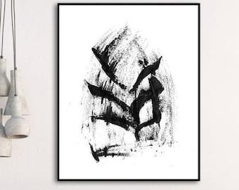 Printable Abstract, Art Print, Instant Download Printable Art, Black and White Art, Minimalist Painting, Scandinavian Modern, Wall Art Print
