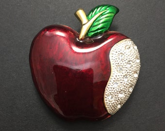 Apple brooch costume jewelry