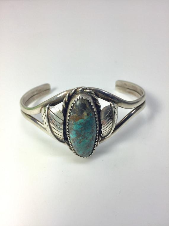 Sterling silver Native American cuff bracelet